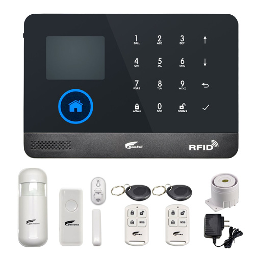 Tft Large Screen Display Gsm Dialer Wireless Home Security Alarm System With Rfid Tags Intelligent Switch Control Grade Products According To Quality Alarm Host