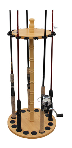Fishing rod storage cabinet
