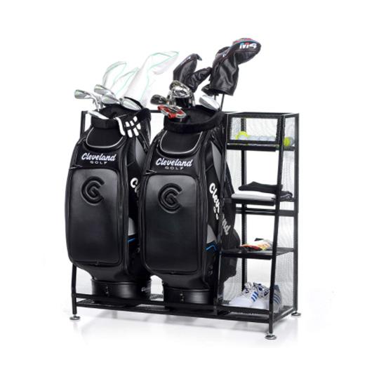 Golf bag storage rack systems