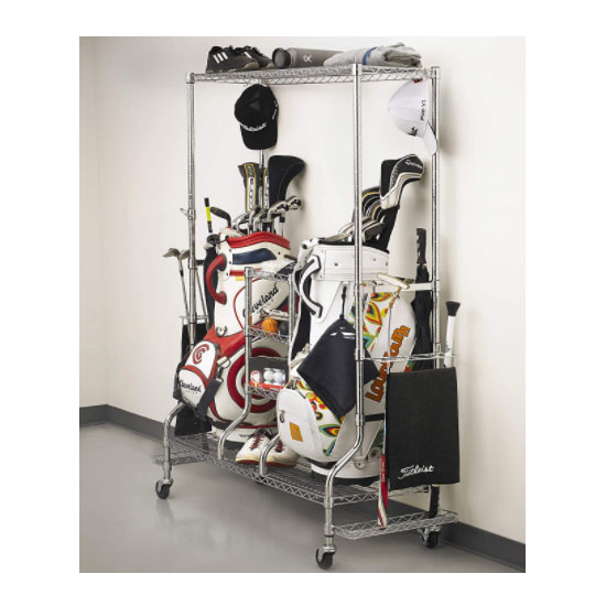Golf bag storage cabinet
